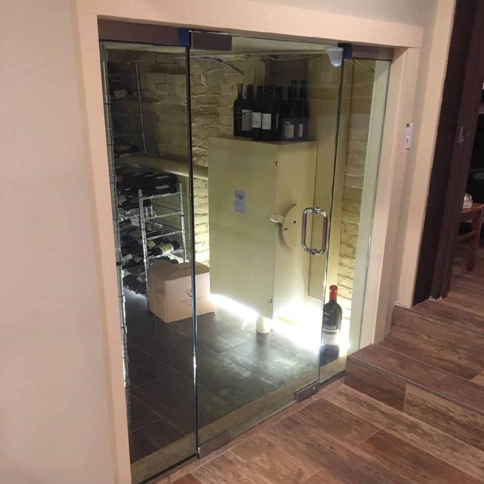 Wine Cellar Glass Door Keralite Fire Rated Glass