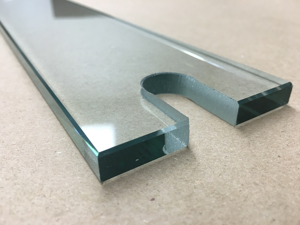 Flat Polished Edge with Cutout